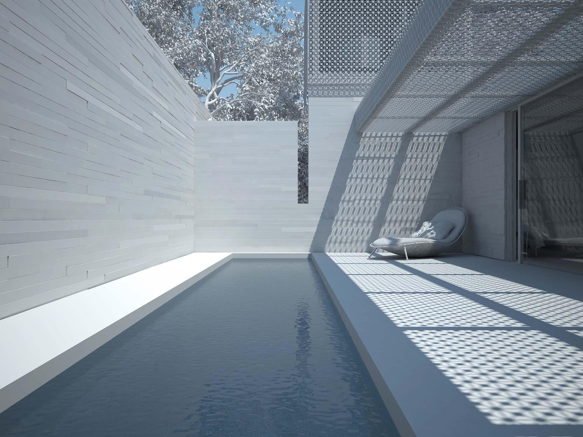 Aigo House Maquette Blanche 3D Maison Extérieur